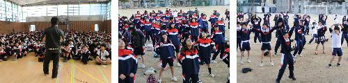 大分川河川敷で強歩大会が行われました。男女ともに新記録!