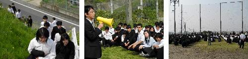 東南海沖地震を想定した全校生徒による避難訓練を実施しました。