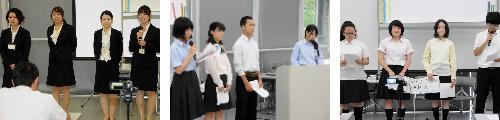 APU立命館コースの前期プレゼンテーション大会が行われる。