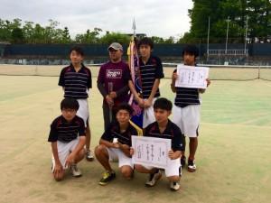 中体連市総体 男子テニス部優勝!