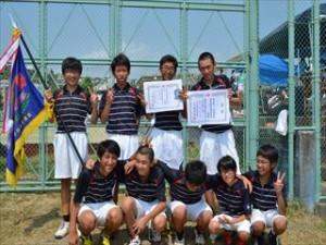 中学男子テニス部 初の県制覇!