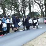 大学入試センター試験始まる  在校生・職員・保護者が盛大な見送り!
